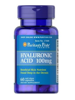 Harga Hyaluronic Acid 100 mg 60 Capsules Dietary Supplements- Helps lubricate joints* Keep Bones Skin Strong Collagen Diet