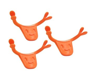 Harga Vinmax 2Pcs Mouth Cheek Muscles Brace Smile Training Tool Smile Maker For Smiling Face (Orange) - intl