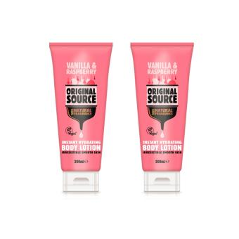 Harga Original Source Vanilla & Raspberry Body Lotion 200ml x 2