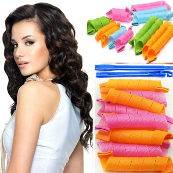 Harga 18Pcs/Set Hair Rollers Curlers Hair Curls Magic Twist Styling Tools