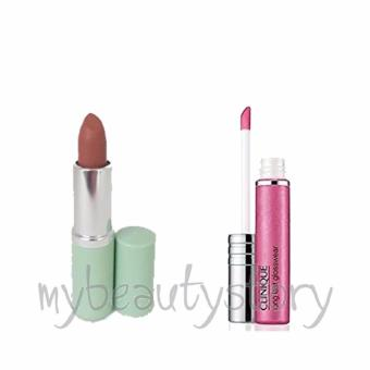 Harga Clinique Long Last Glosswear Love at First Sight and Long Last Lipstick Blushing Nude