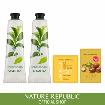 Harga [1+1] Nature Republic Hand&Nature Green Tea Hand Cream