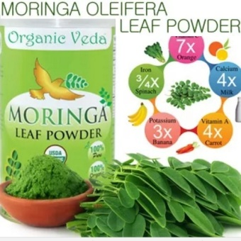 Harga Moringa Leaf Powder (100% Pure Organic).