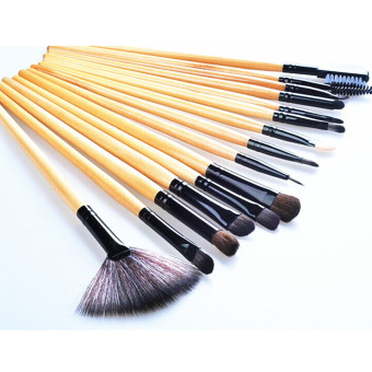 Harga Make-up For You Premium Kabuki Makeup Brush Set Cosmetics Foundation blending blush 24 PCS Set Yellow
