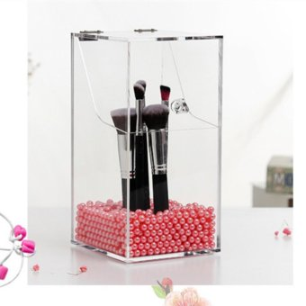 Harga Acrylic Organizer Cosmetic Box Makeup Brush Holder Lipstick Cosmetic Storage Box Organizer For Cosmetics Case - intl
