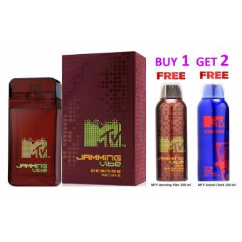 Harga Bundle Offer - MTV Jamming Vibe edt 75 ml + Free Gift MTV Sound Check Deo 200 ml + MTV Jamming Vibe Deo 200 ml