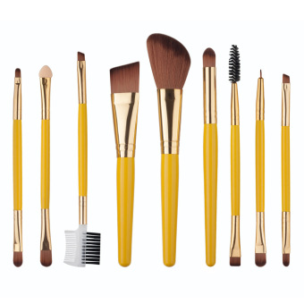 Harga 9pcs Makeup Brushes Professional Cosmetic Make Up Brush Set - intl