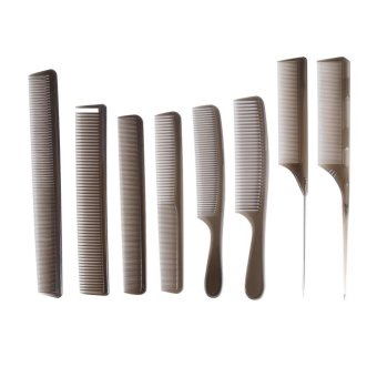 Harga 8PCS Hair Combs Hairdressing Styling Cutting Barber Stylist Tools Set - intl