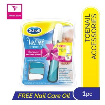 Harga Scholl Velvet Smooth Electronic Nail Care System + FREE Nail Care Oil