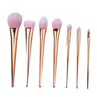 Harga High Quality Blush Foundation Wood Rose Gold Cosmetic Makeup Brush Set - intl