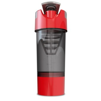 Harga Protein Shaker Blender Water Bottle Cyclone Cup Sports Mixer - Red