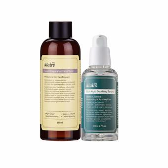 Klairs SUPPLE PREPARATION FACIAL TONER + RICH MOIST SOOTHING SERUM