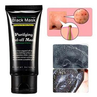 Harga niceEshop Blackhead Remover Cleaner Purifying Deep Cleansing Acne Black Mud Face Mask Peel-off(50ml,Black)