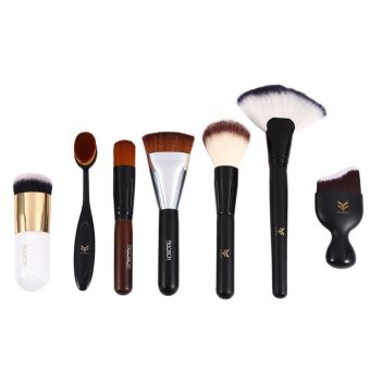 Harga 7PCS Professional Makeup Brushes Powder Blush Makeup Brush Set - intl
