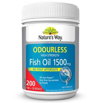 Harga Nature's Way Fish Oil Odourless 1500mg 200 Capsules