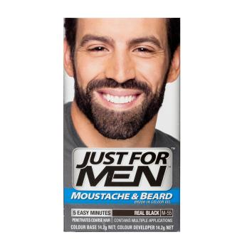 Harga Just For Men Brush-In Color Gel for Moustache, Beard and Sideburns - Real Black
