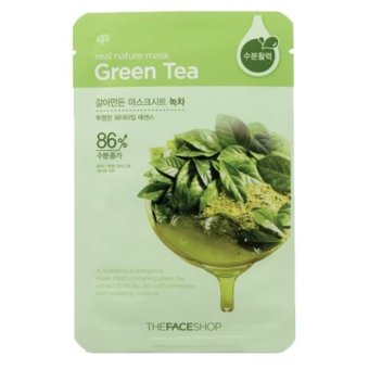 Harga The Face Shop Real Nature Mask Green Tea