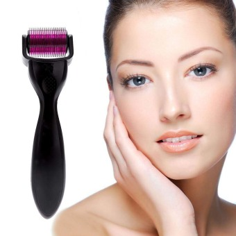 Harga Top Beauty 0.5mm 1200 Microneedle Derma Roller Skin Acne Therapy Dermaroller (Black) - Intl