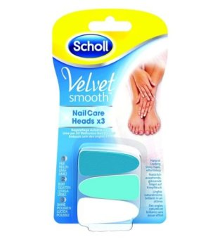 Harga Scholl Velvet Smooth Nail Care Heads x 3