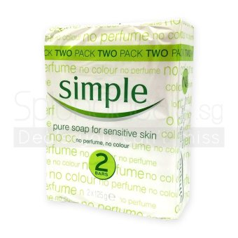 Simple Sensitive Skin Pure Soap 125g x 2 (20 Packs + Free 4 Packs) - 1068