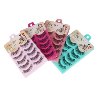Harga Natural Eye Lashes Extension Beauty Makeup Long Fake False Eyelashes Thick Soft - intl