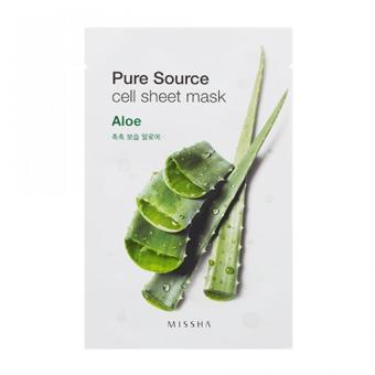 Harga MISSHA Pure Source Cell Sheet Mask 21g (Aloe) - intl