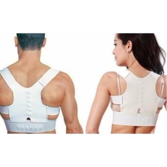 Harga Groupon Posture-Corrective Back Brace with Magnets Size:L 70cm-80cm