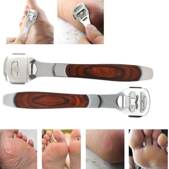 Harga Foot Dead Skin Shaver Cuticle Cutter Callous Remover Razor Scraper With Skin Rub & Blade & Box - intl