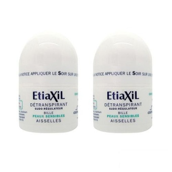 2 x Etiaxil Roll-On Antiperspirant for Armpits (Sensitive Skin) 15ml - intl
