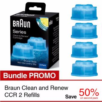 Harga Braun Clean and Renew CCR 2 Refills 25% Promo Bundle