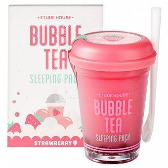 Harga Etude house Bubble Tea Sleeping Pack 100g (Strawberry) (Export)