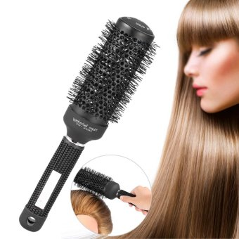 Harga New Ceramic Comb Round Barber Hair Brush Dressing Salon Styling Tools 53mm - intl