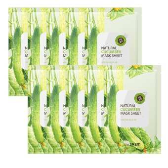 Harga The Saem Natural Cucumber Mask Sheet (10ea) - intl