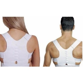 Harga Posture-Corrective Back Brace with Magnets Size:M 65cm-78cm