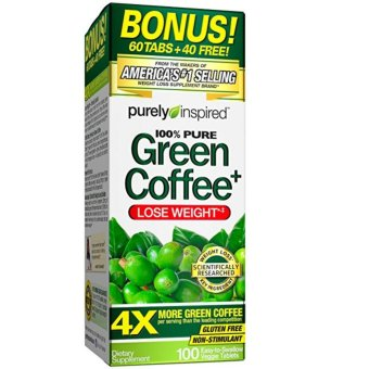 Harga Purely Inspired 100% Pure Green Coffee, 800mg, 100 Veggie Tablets