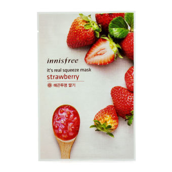 Harga Innisfree Its Real Squeeze Mask - Strawberry 10pcs (Intl)