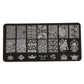 Harga Yingwei Nail Art Templates Plates Manicure Stencil BC-07 Black