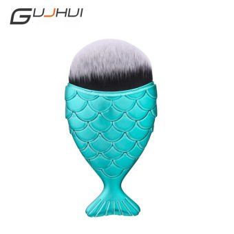 Harga 1piece Mermaid Makeup Blush Foundation Brush Blue - intl