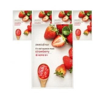 Harga Innisfree Its Real Squeeze Mask - Strawberry 5pcs
