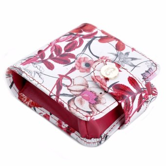Harga Boshiho Small Lipstick Case with Mirror Chinese Ink Painting Cosmetic Pouch Case Elegant Gift Box(Red) - intl