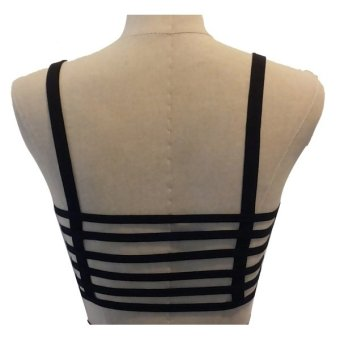 Harga Cage Bra 6 Stripes (Black)