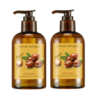 Harga Nature Republic Argan Essential Deep Care Shampoo 300ml *2