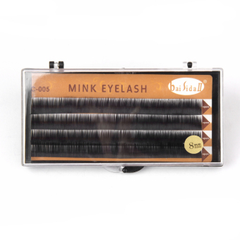 Harga Black Individual Mink False Fake Eyelashes Eye Lashes Extensions 8mm
