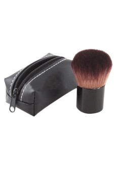 Harga Moonar Professional Mushroom Blush Loose Power Make Up Brush + Case (EXPORT)