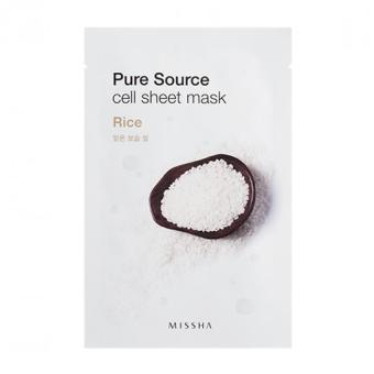 Harga MISSHA Pure Source Cell Sheet Mask 21g (Rice) - intl