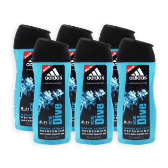 Harga Adidas Shower Gel - Ice Dive 2 in 1 Hair and Body 250ml x 6 Bottles - 3902