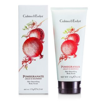 Harga Crabtree and Evelyn Pomegranate, Argan and Grapeseed Body Scrub 175g