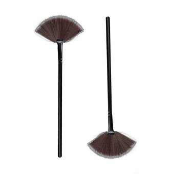 Harga Professional Blending Fan Face Powder Blush Brush Makeup Tool (EXPORT)