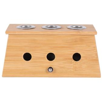 Harga Healing Therapy Massager Bamboo Mild Moxibustion Box Moxa Roll Stick Burner Holder Case(3 Holes - intl