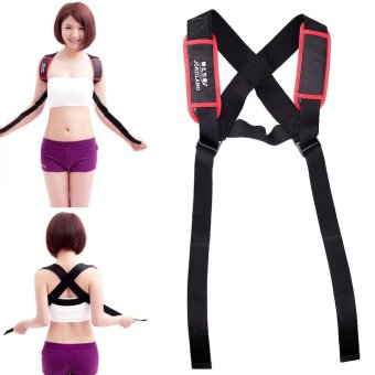 Harga Adjustable Shoulder Back Posture Corrector Chest Brace Support Belt Vest